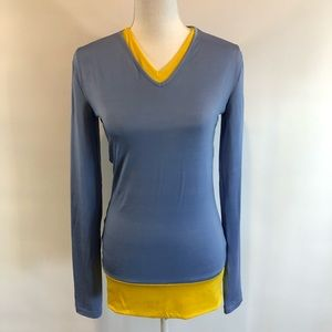 D&G Dolce & Gabbana Sz 32/46 Blue & Yellow  Top